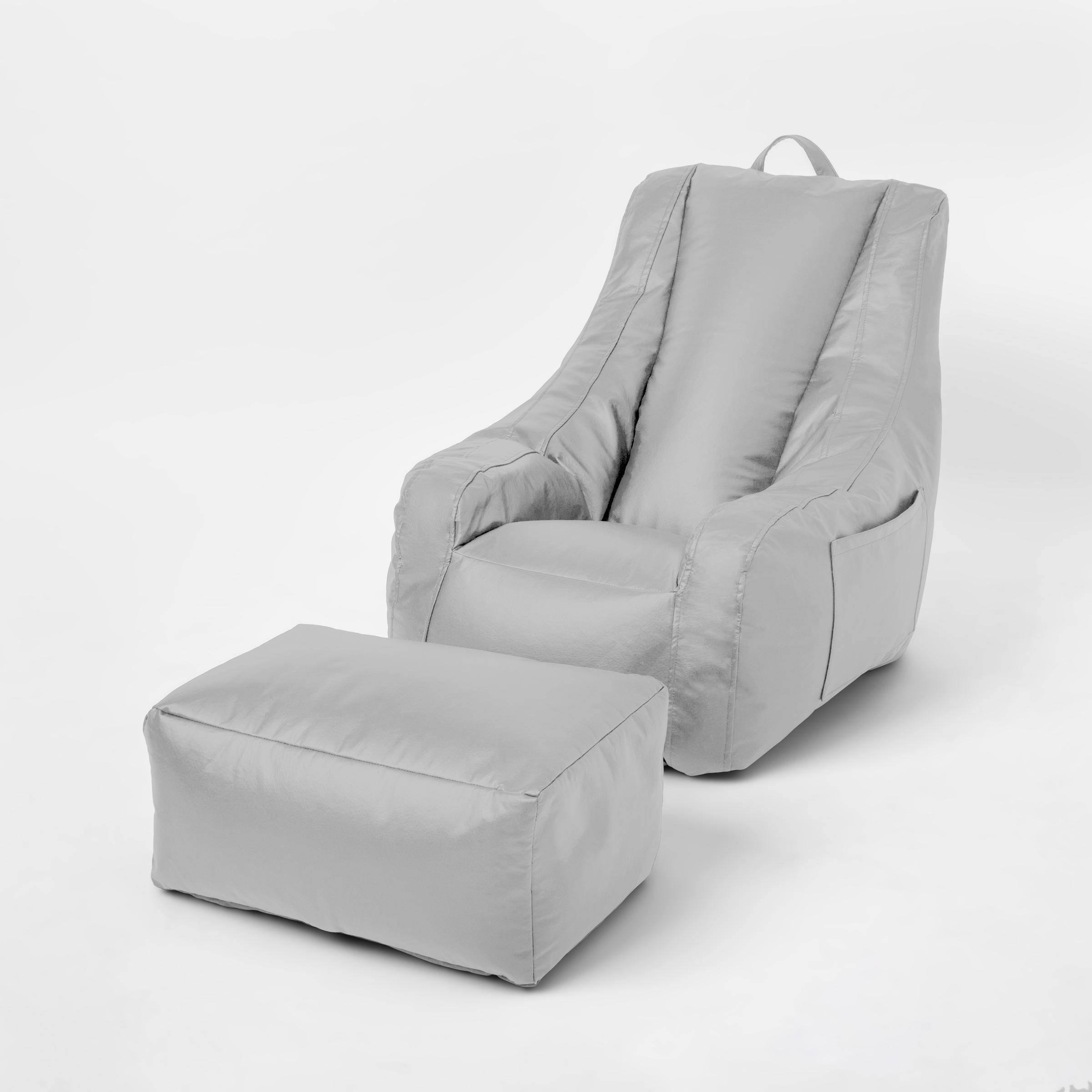 Supportive Chair with Pocket & Ottoman
