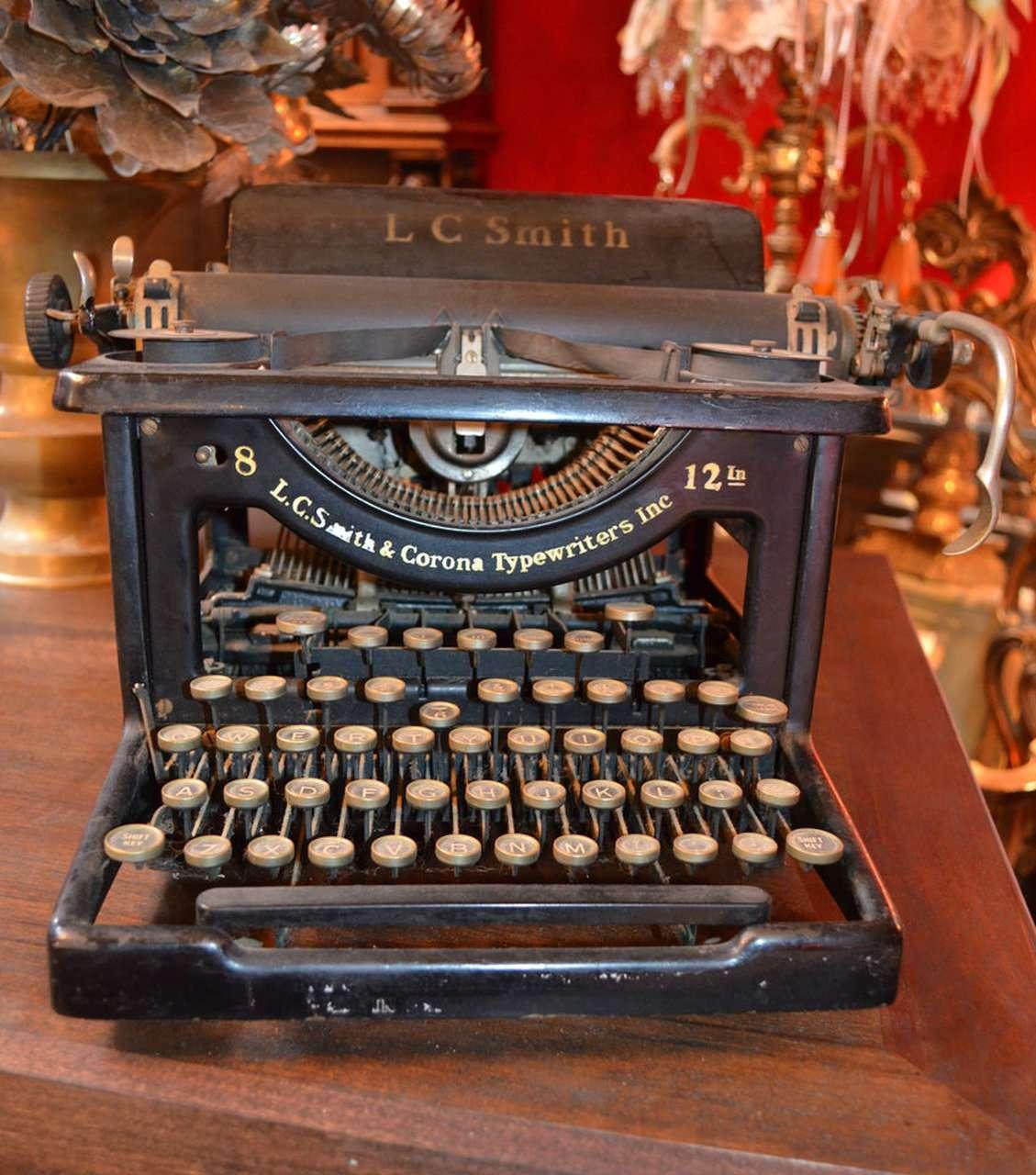 Lc Smith & Corona Typewriter