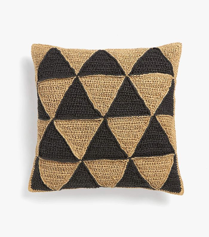 Zara Home Crochet Throw Pillow Cover
