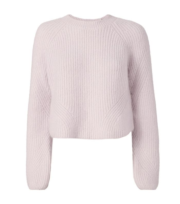Intermix Luella Cropped Pullover Sweater Purple-Lt S