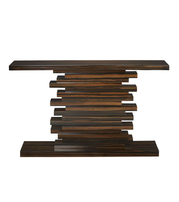 Stack Hi-Gloss Wood Console Table