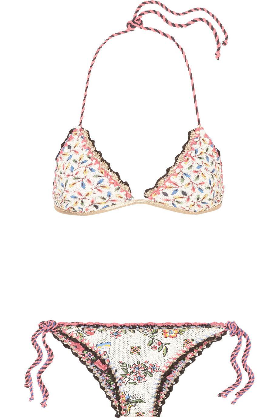 two piece crochet bathing suit