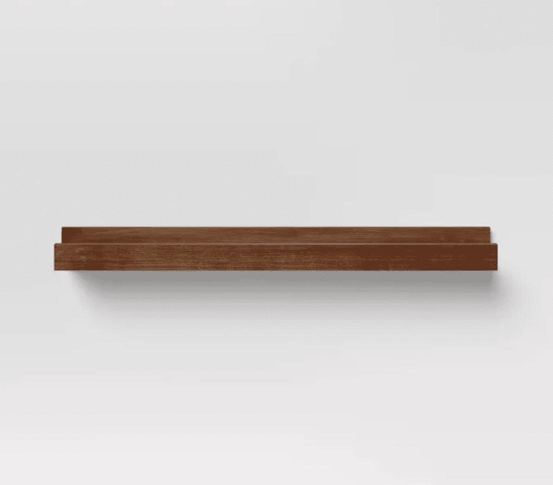 Brown picture ledge