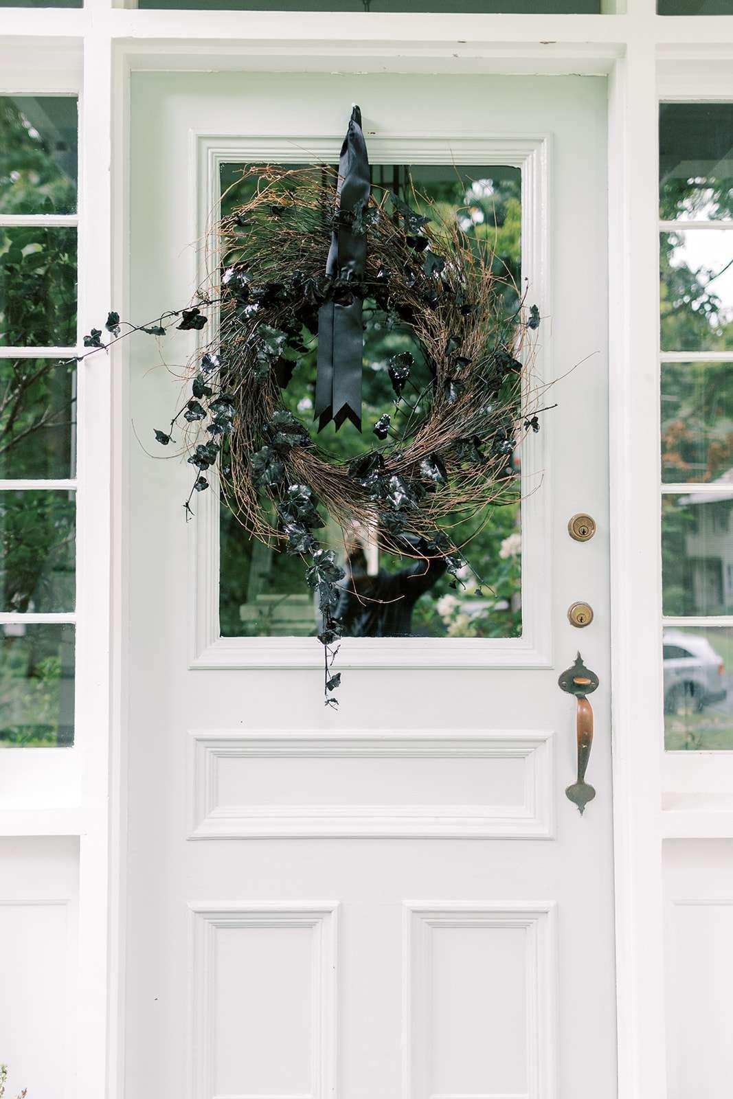 black fall wreath