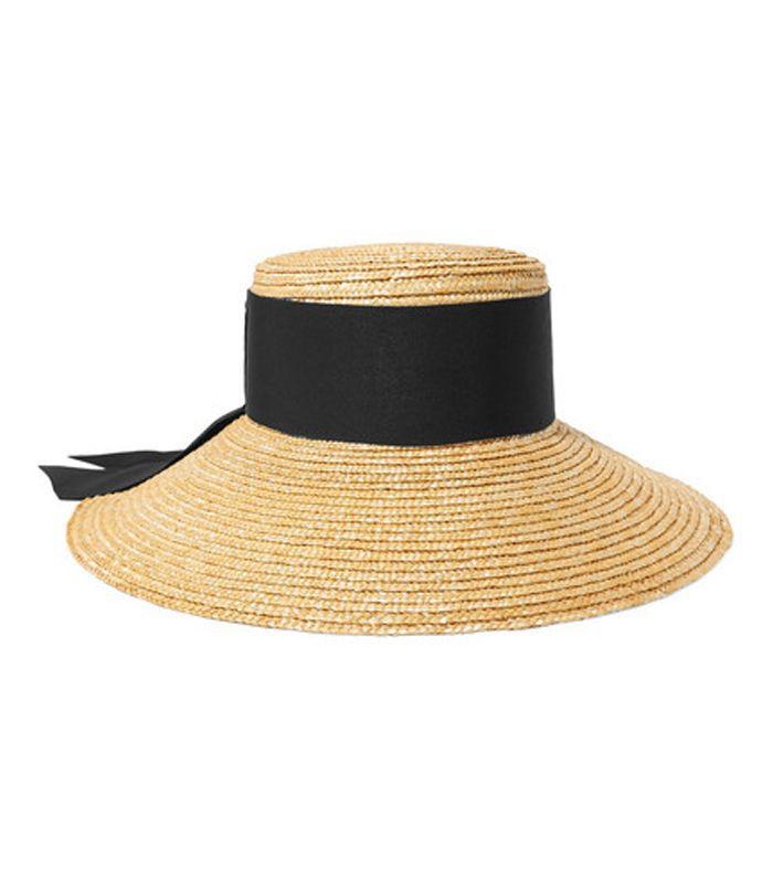 Annabelle Grosgrain-trimmed Straw Hat