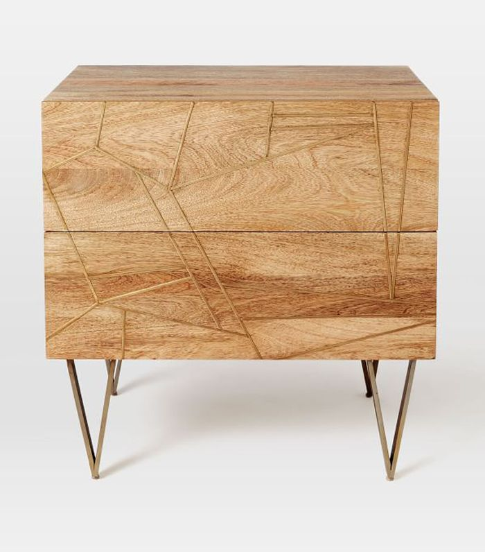 Roar+ Rabbit Brass Geo-Nightstand 2-Drawer