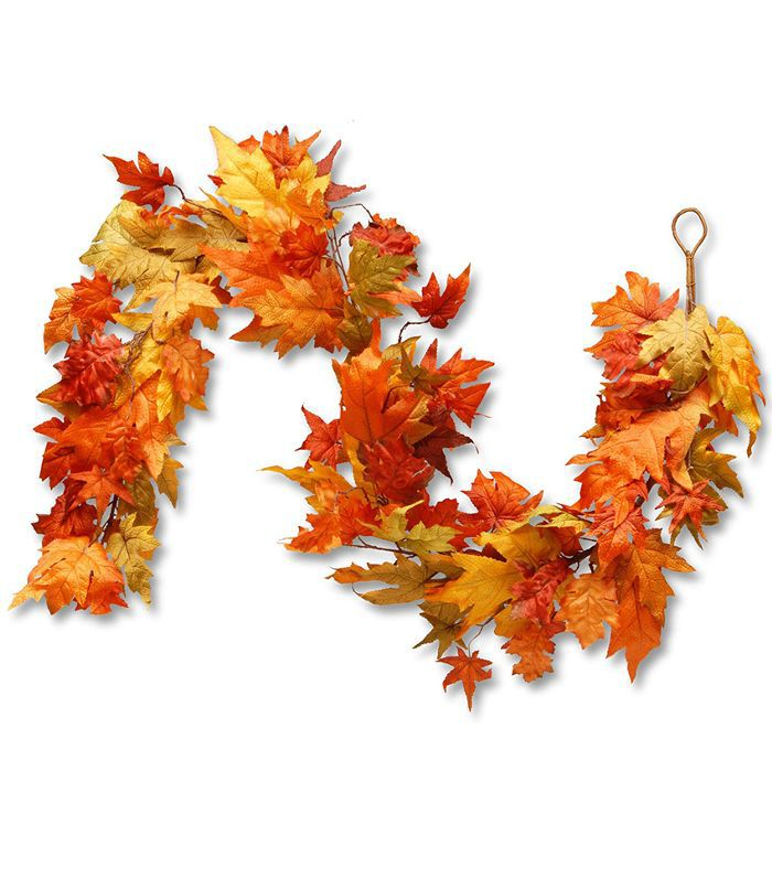 National Tree Company 72-Inch Garland With Maple Leaves Amazon Thanksgiving Decor