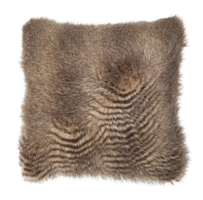 Threshold Brown Fur Bed Pillow