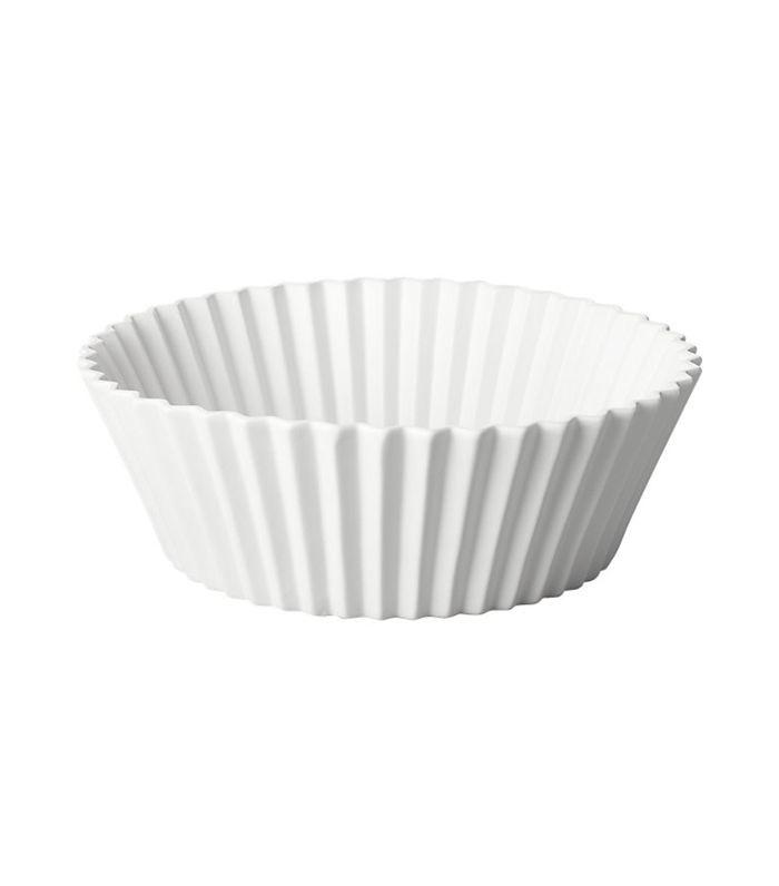 Crinkle White Serving Bowl