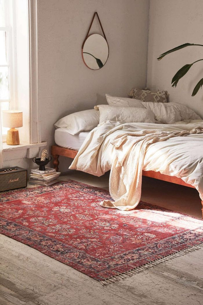 Urban Outfitters Pavo Chenille Printed Rug