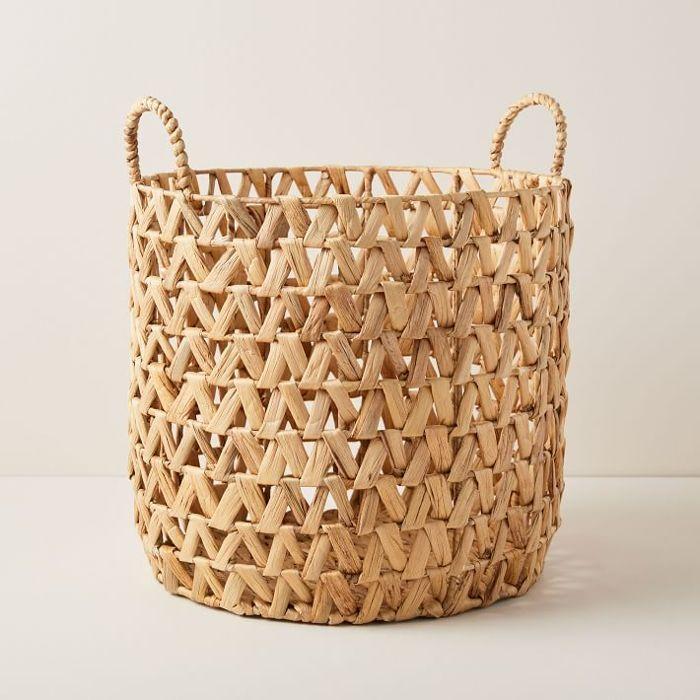 West Elm Open Weave Zigzag Basket