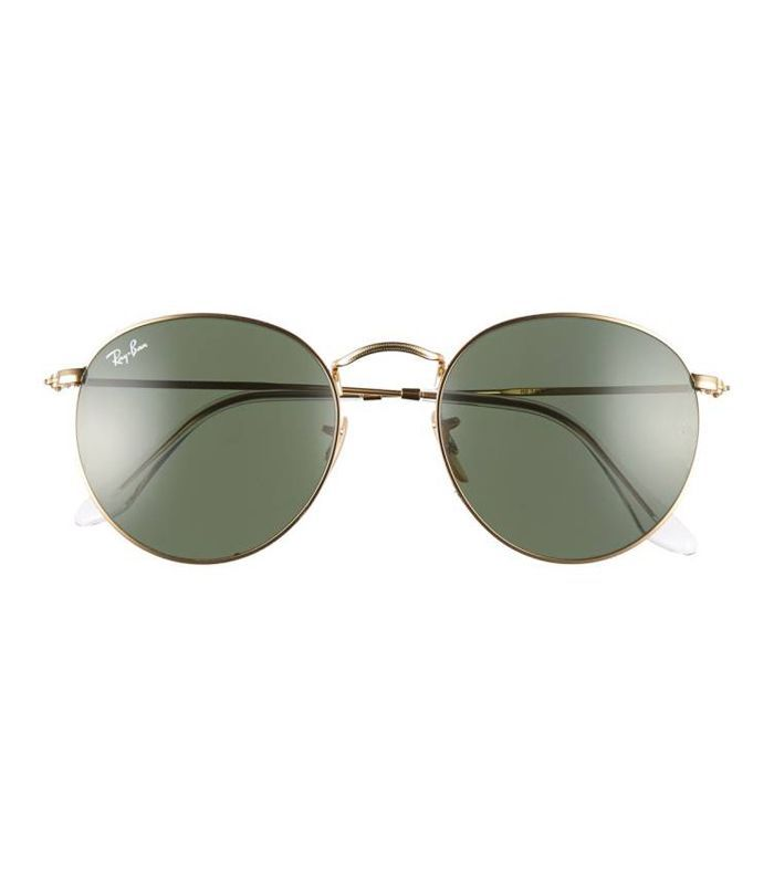 Icons 53Mm Retro Sunglasses - Gun/ Green Solid