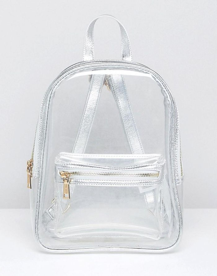 perspex backpack in clear