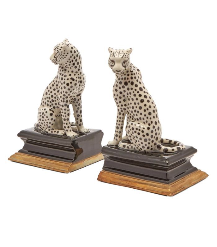 House of Hackney Cheetah Porcelain Bookends - Brown