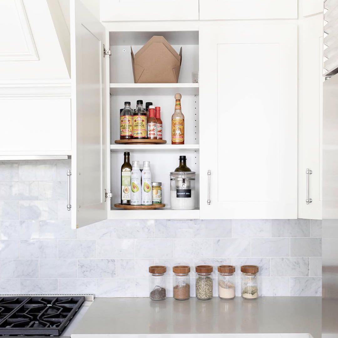 Cabinet with lazy susan