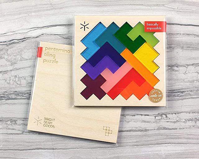 Bright Beam Goods Rainbow Pentomino Puzzle