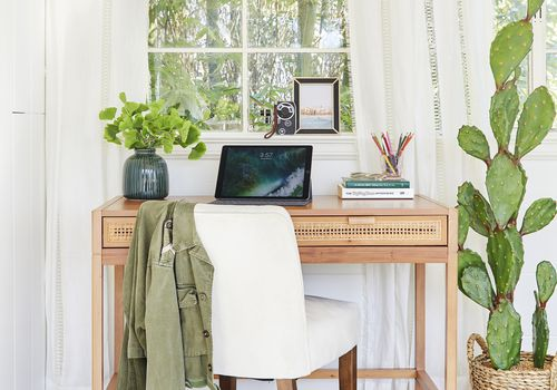 boho-inspired home office