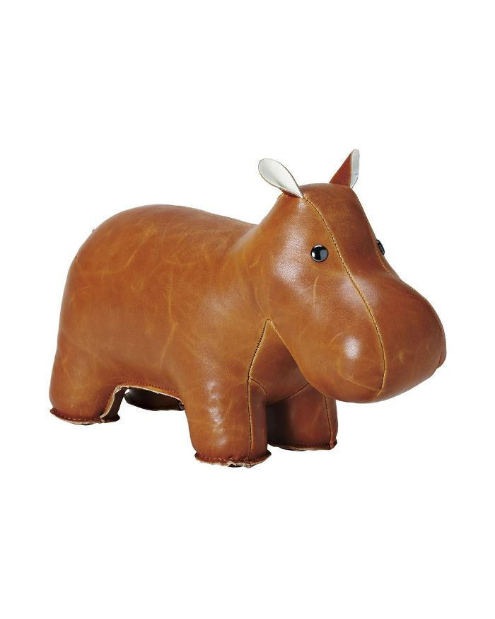 Menagerie Bookend: Brown Hippo