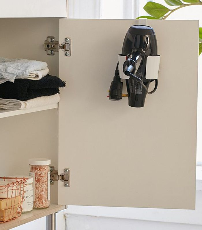 Over-The-Cabinet Hair Dryer Caddy