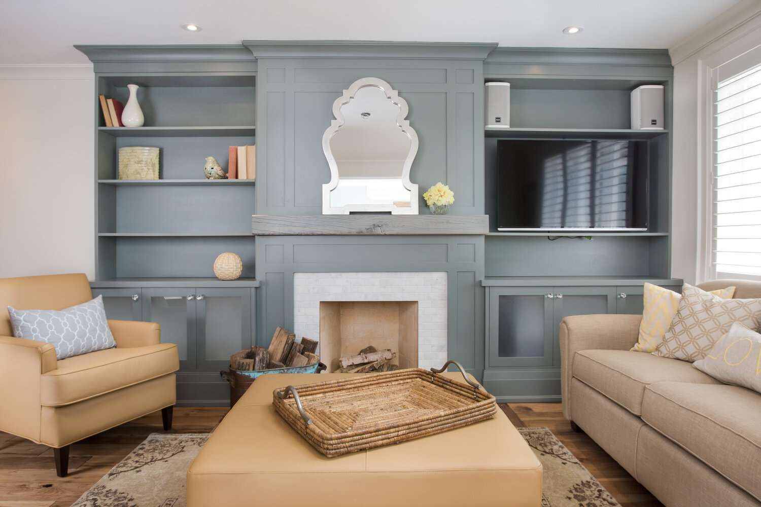 fireplace with wood in it