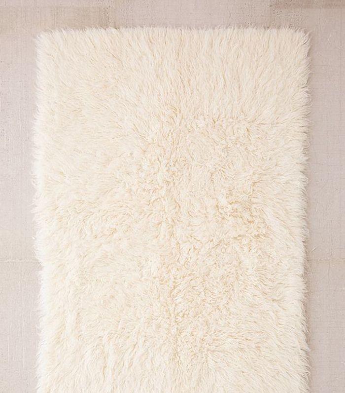 Flokati Wool Shag Rug - Black 8 x 10 at Urban Outfitters