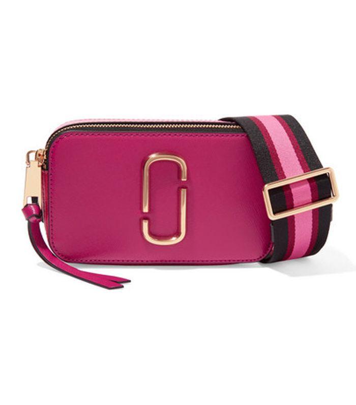 Snapshot Textured-leather Shoulder Bag