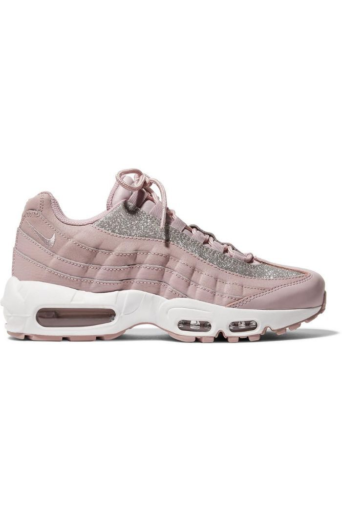 Air Max 95 Glittered Leather And Suede Sneakers