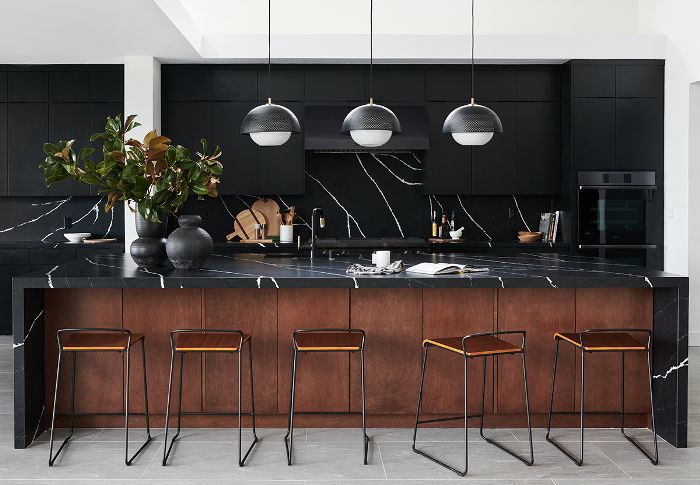 All-black kitchen