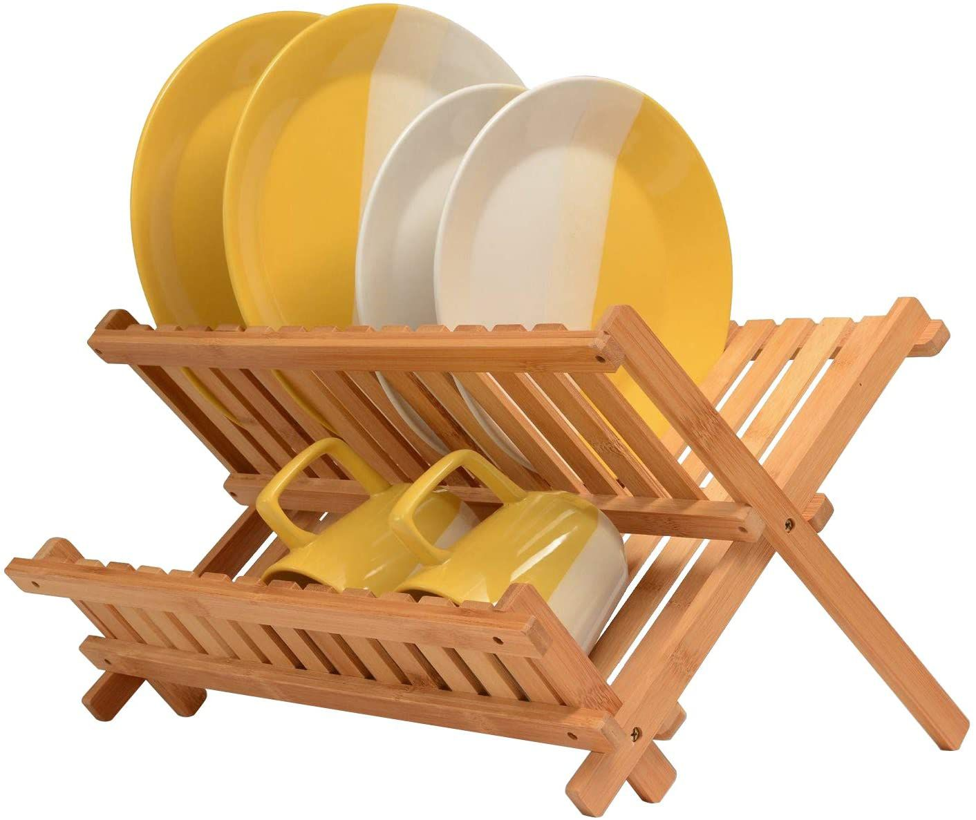 Bambusi Folding Bamboo Dish Rack