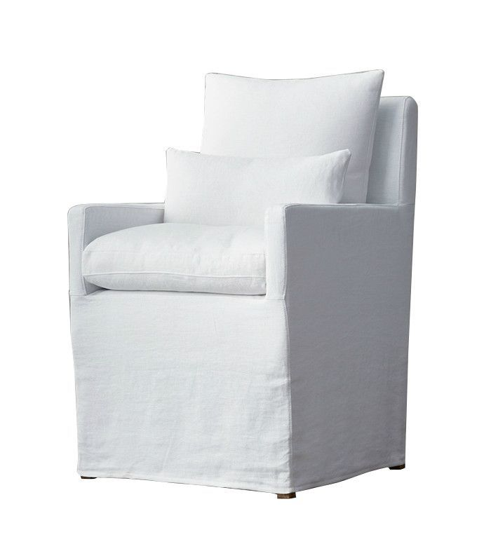 Restoration Hardware Linen Armchair