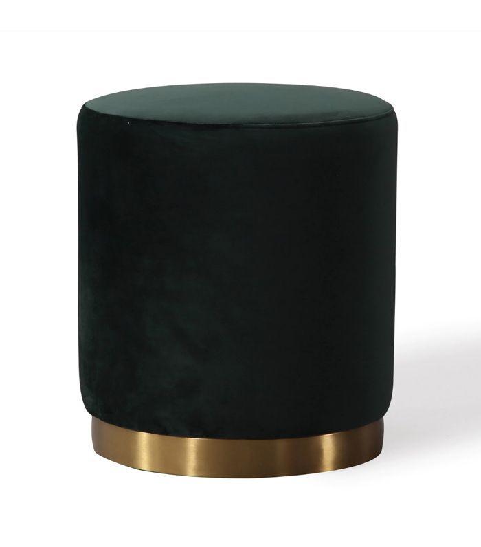 Overstock Opal Green Velvet Ottoman