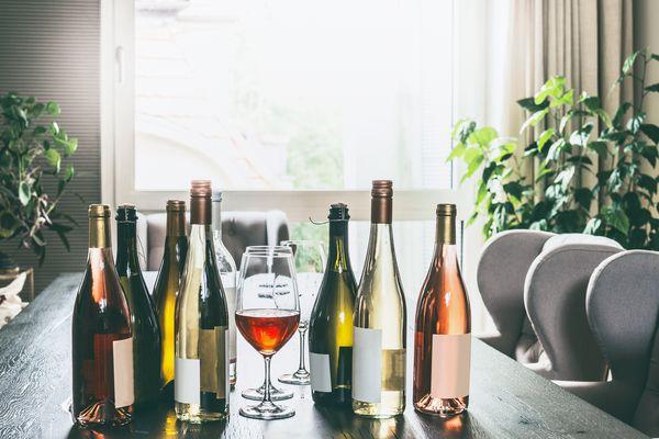 wine in dining room