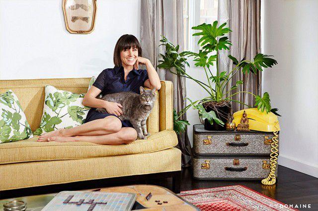 Constance Zimmer—living room