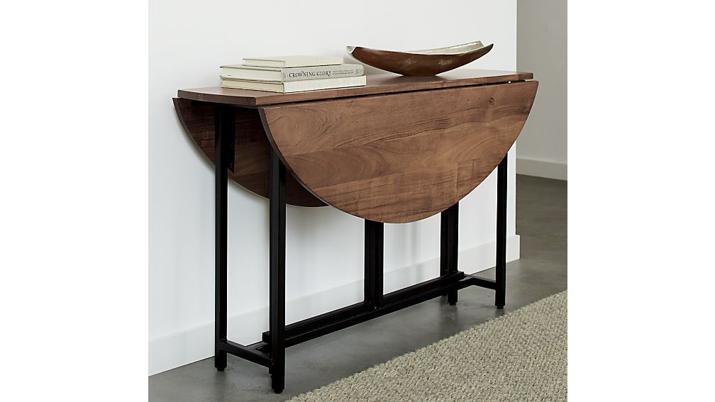 Crate and Barrel Origami Drop Leaf Table