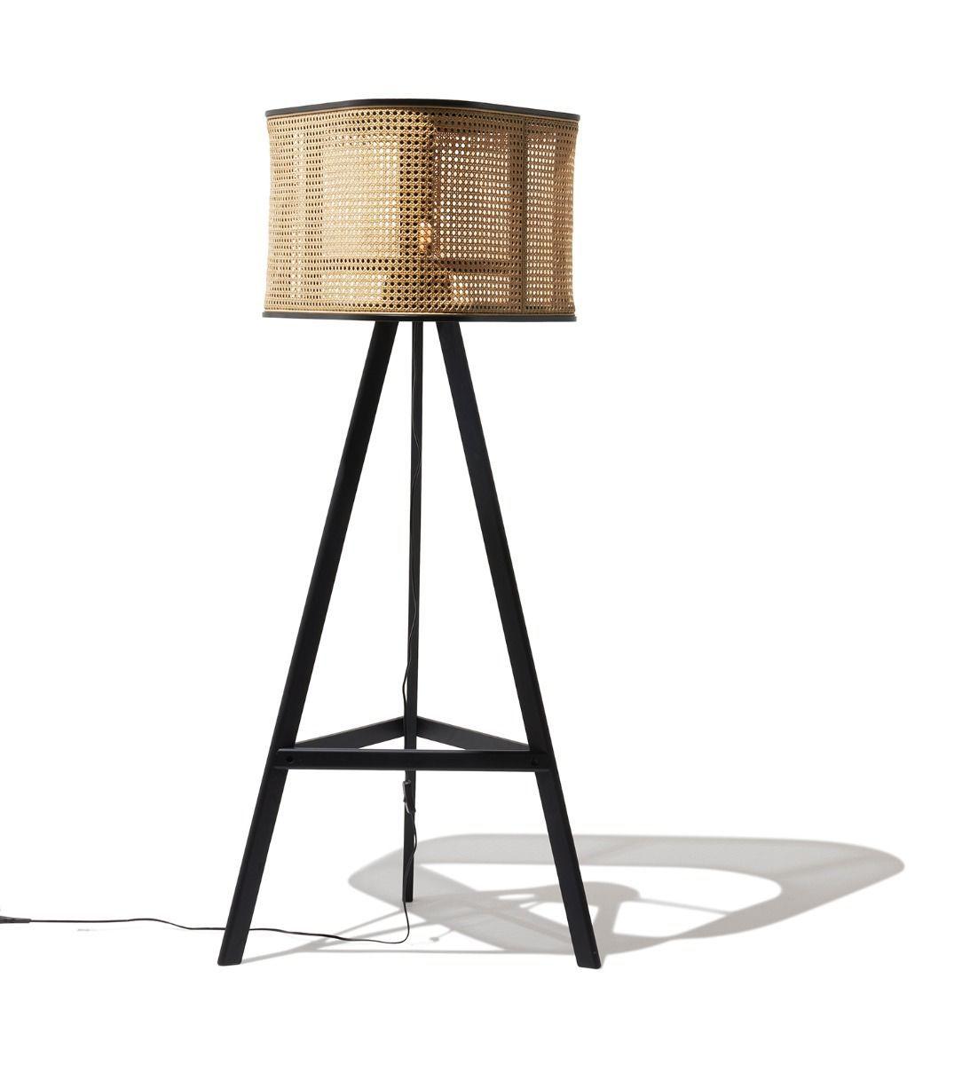 Industry West Cane Floor Lamp