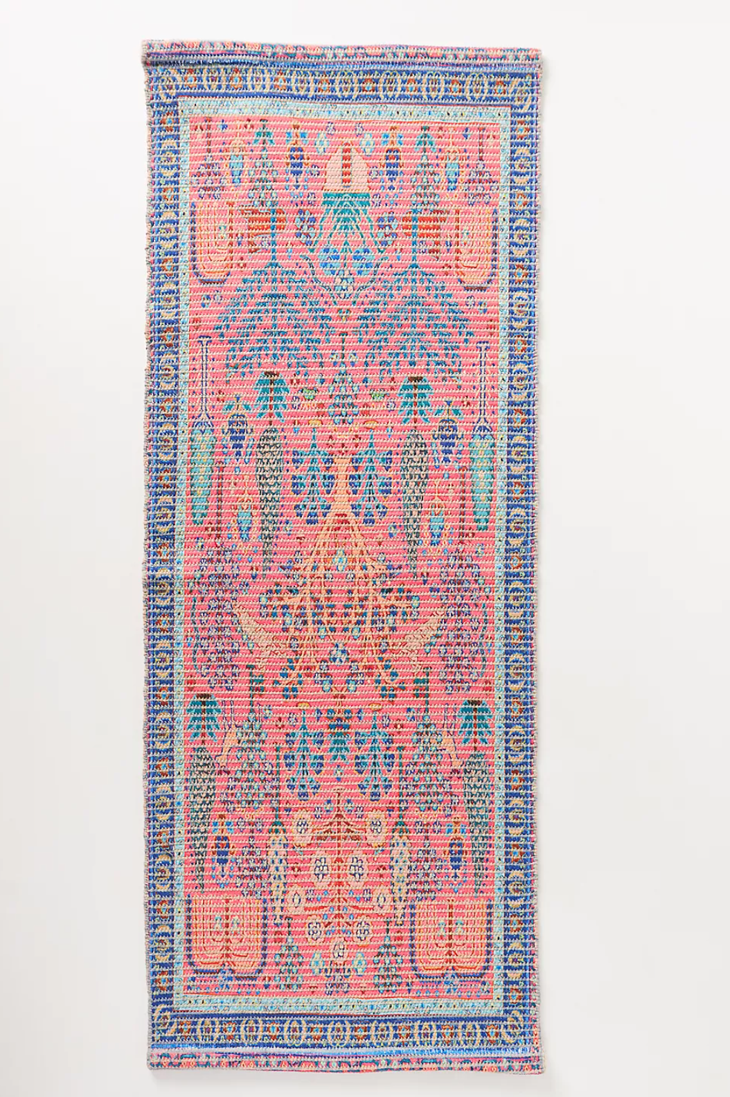A printed bath rug, currently for sale at Anthropologie