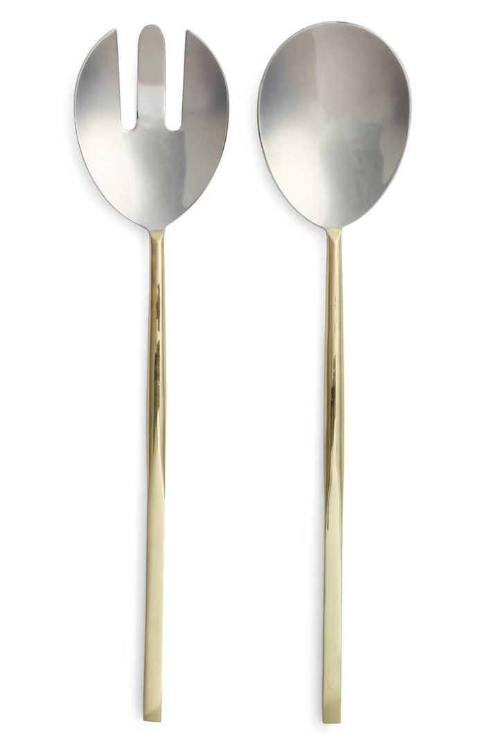 Nordstrom at Home Golden 2-Piece Salad Serving Set