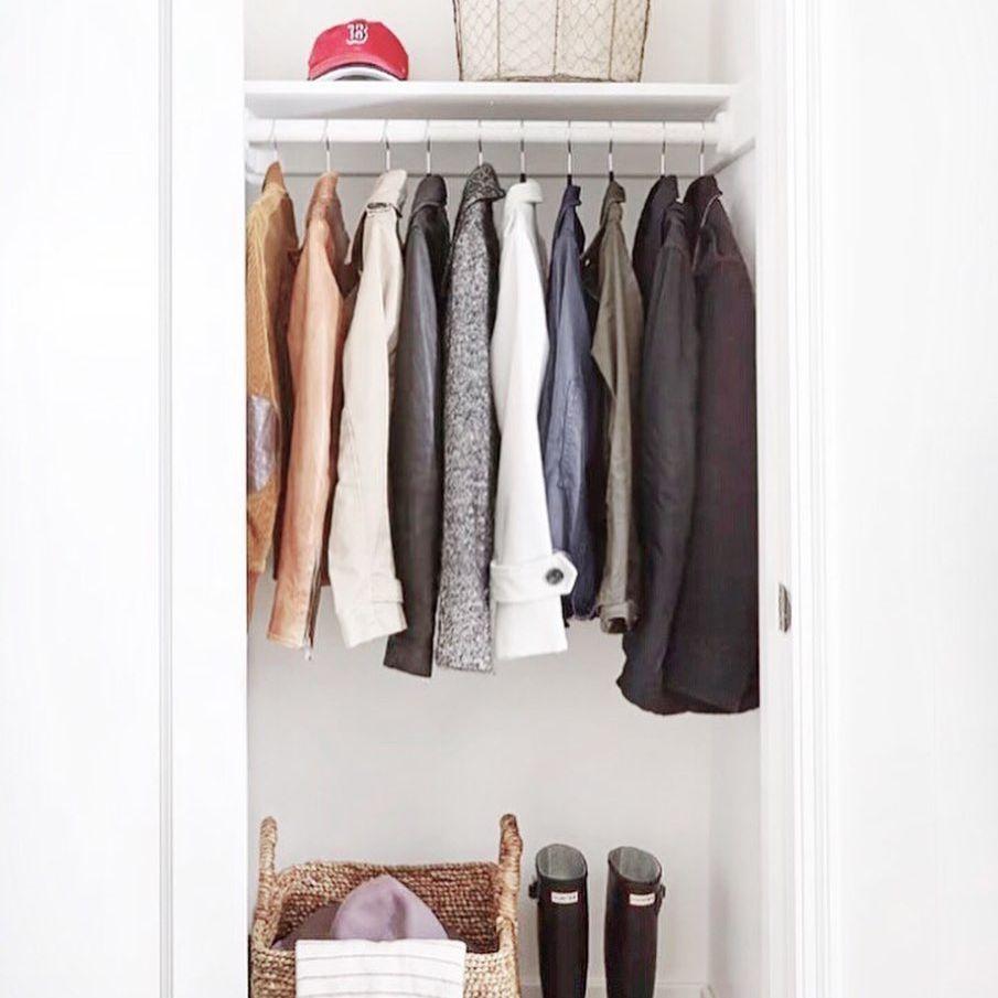 minimalist hall closet