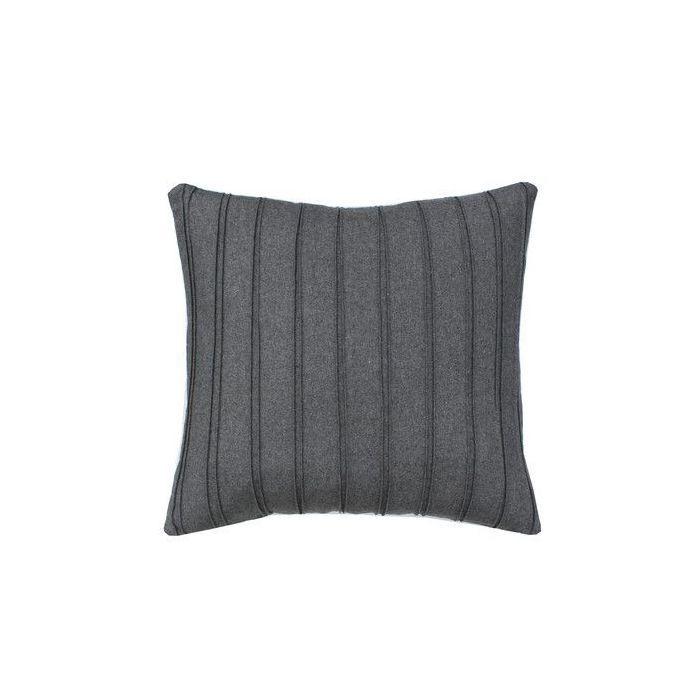 High Street Market Grey Pleated Throw Pillow
