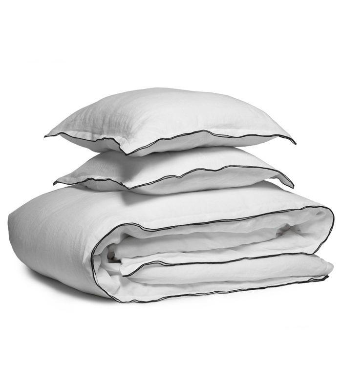 Parachute Home Edged Linen Duvet Cover Set Luxurious Pillows