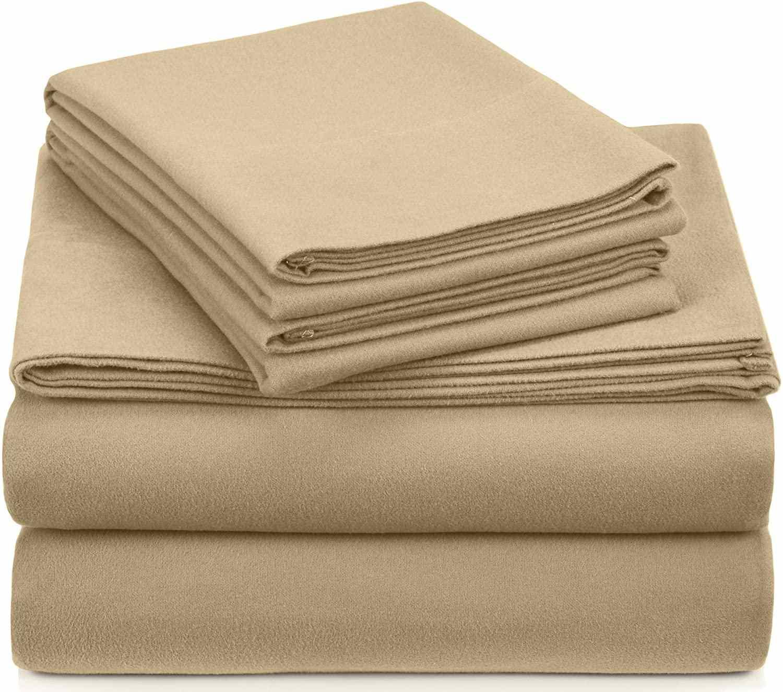 Pinzon Signature Heavyweight Velvet Flannel Bed Sheet Set