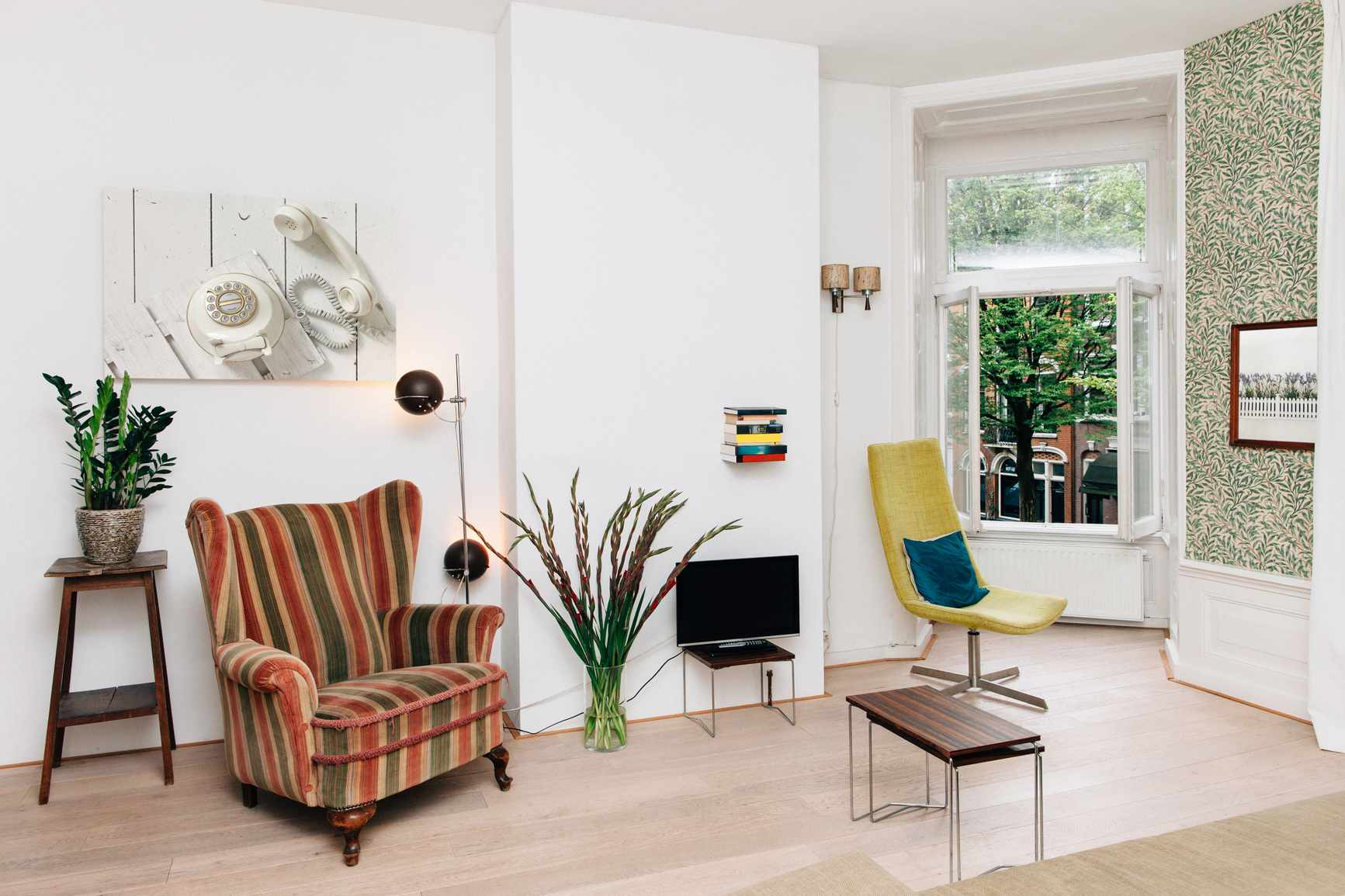 room with vintage furniture