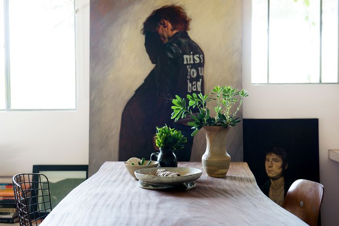 Leanne Ford design tips: a dining room with an earthy vessel