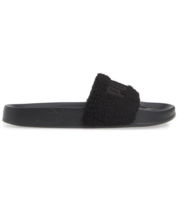 Puma Leadcat Faux Shearling Slide Sandals