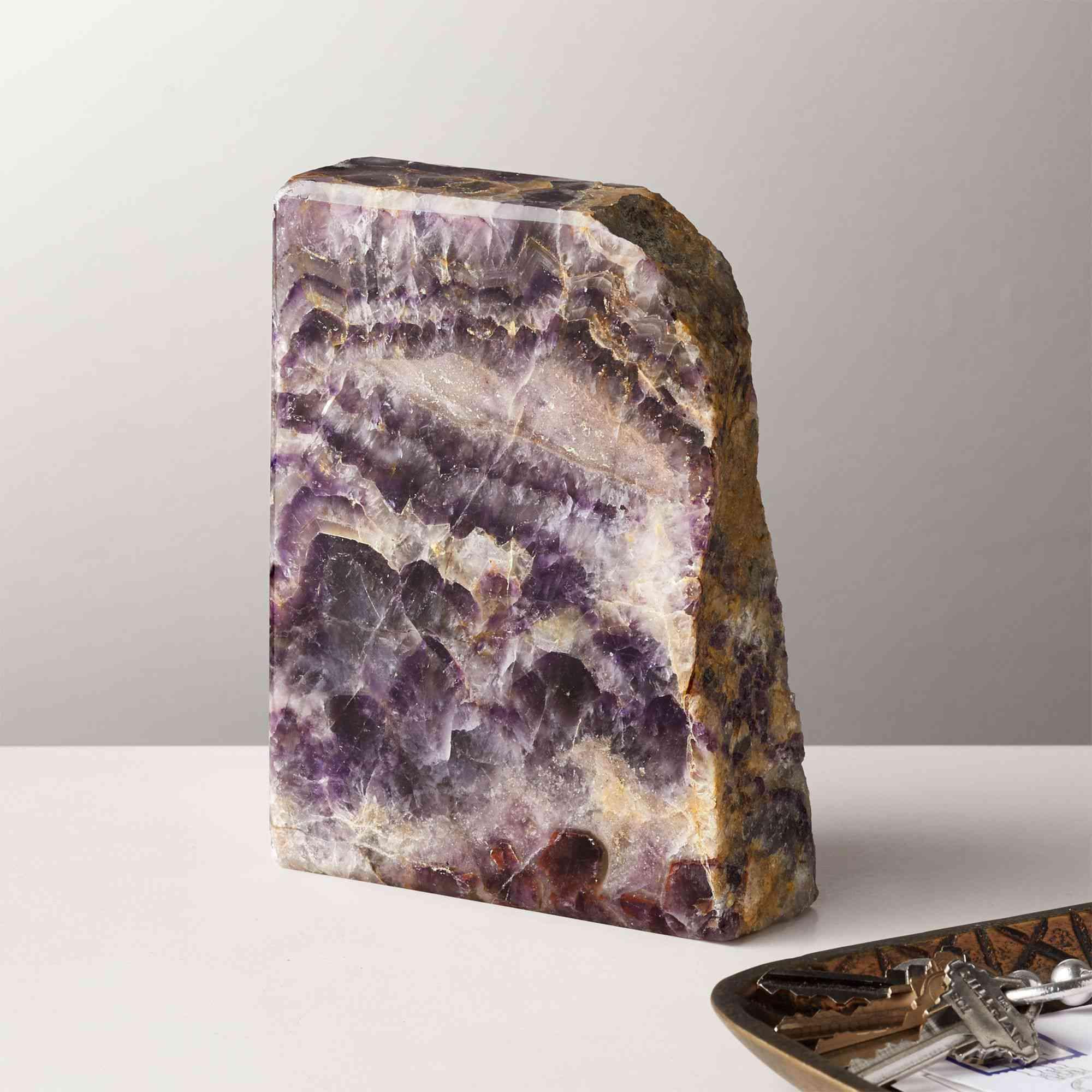A raw amethyst objet d'art.