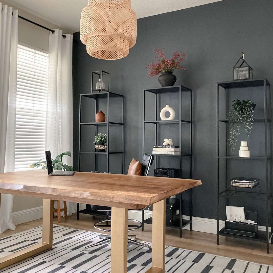 Office with black paint