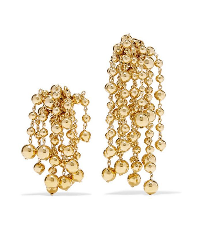 Les Perles Yasmin Gold-tone Clip Earrings