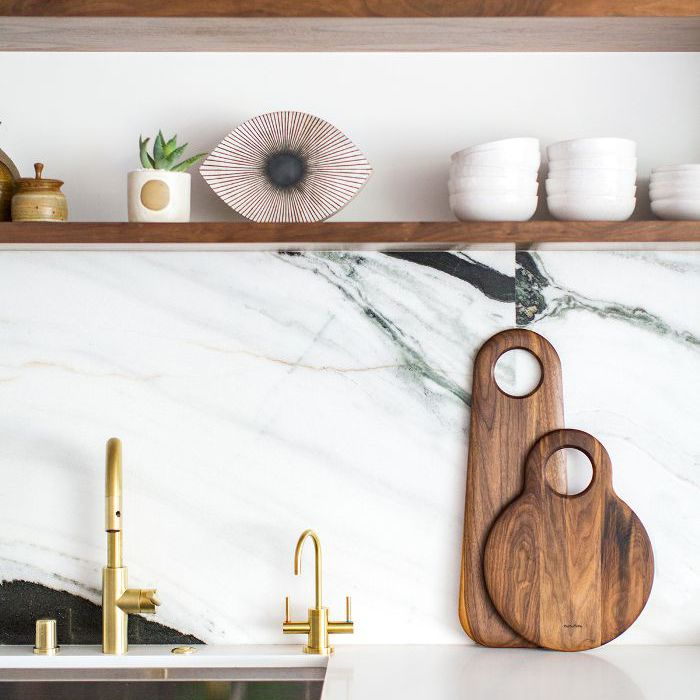 modern kitchen shelf