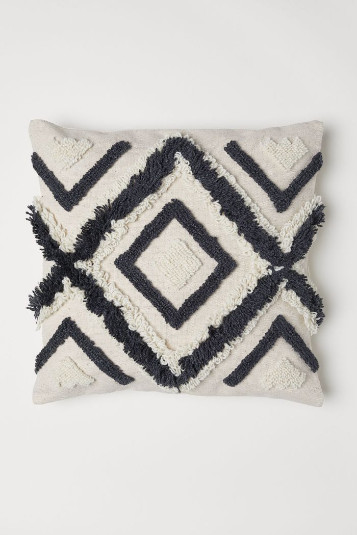 H&M Wool-Embroidered Cushion Cover