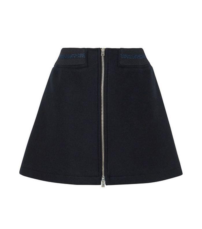 Charlotte Metallic-trimmed Wool-blend Mini Skirt
